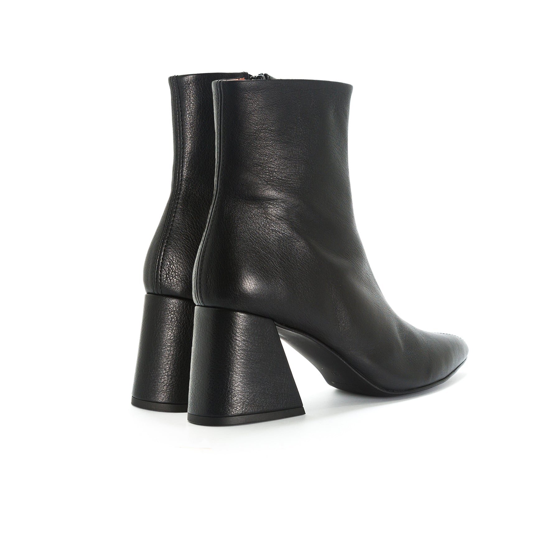 Antiga Black Leather Booties