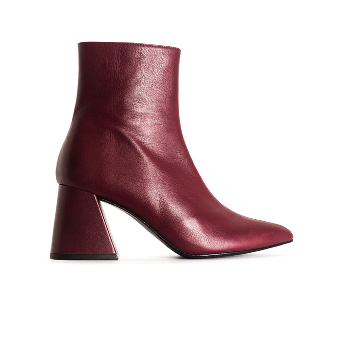 Antiga Bordo Leather Booties