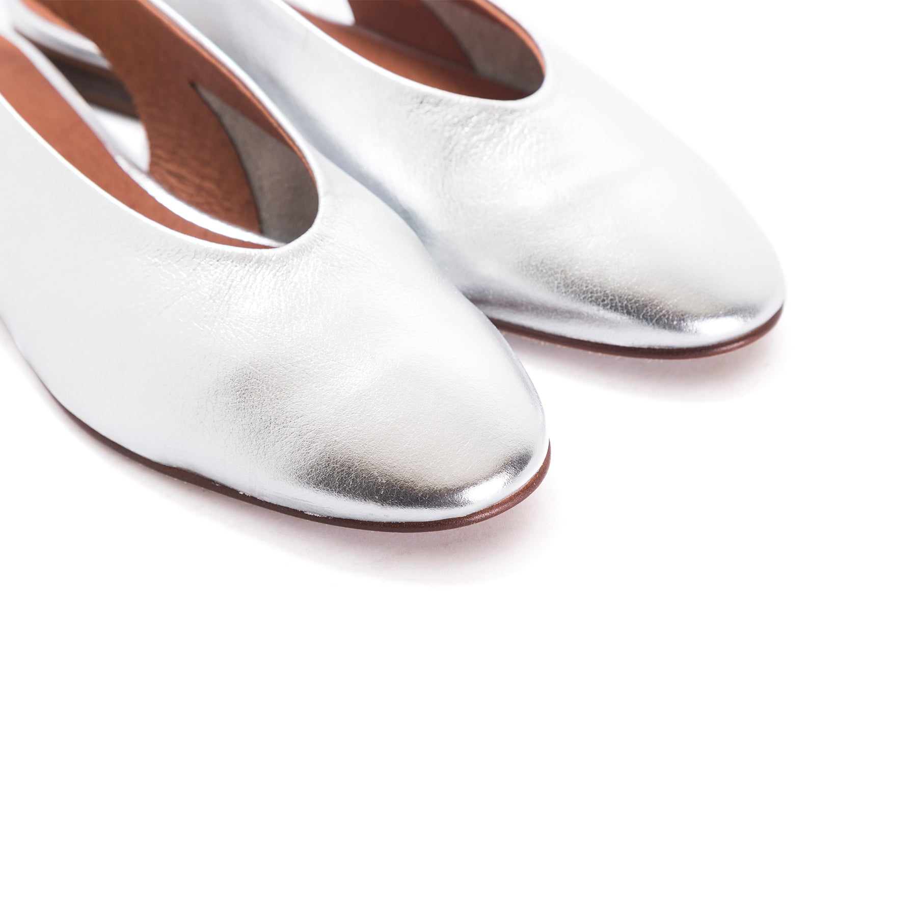 Arnav Silver Leather Shoes
