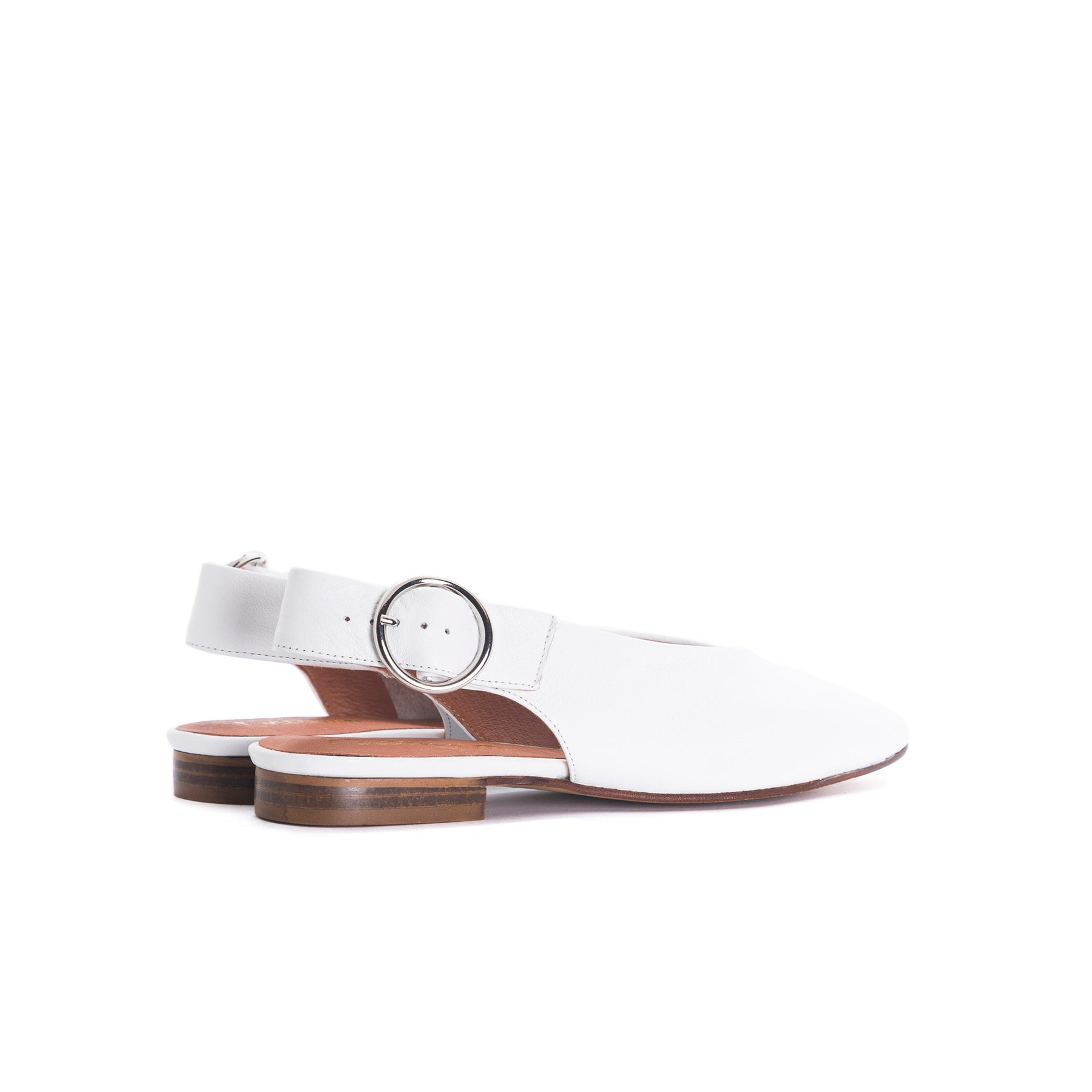 Arnav White Leather Shoes