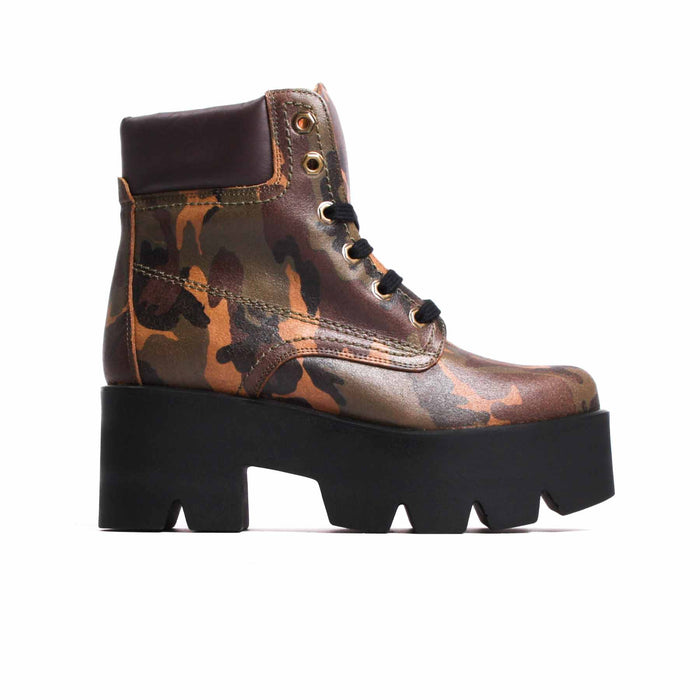 Boots, Attack Military Leather - Lintervalle shoes for woman