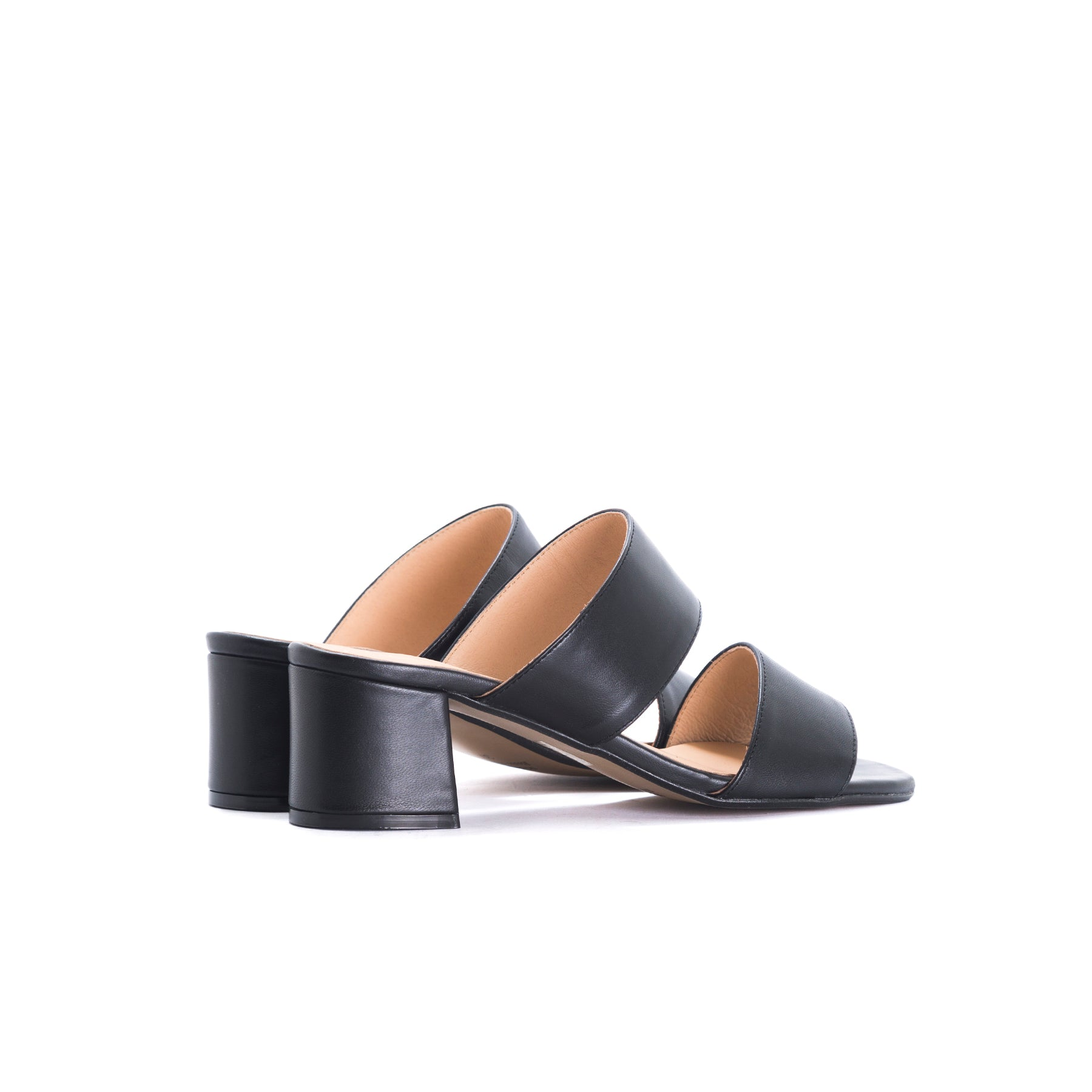 Aurora Black Leather Sandals