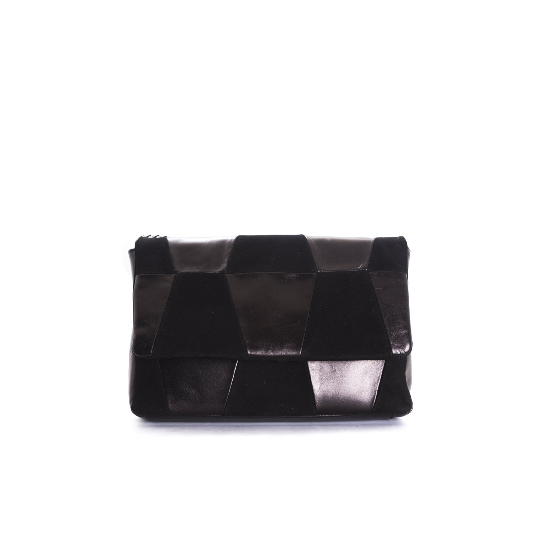 Aurora Black Leather Shoulder Bags