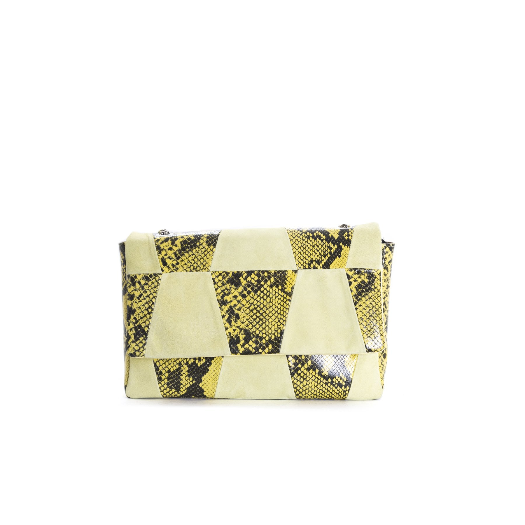 Aurora Yellow Snake Shoulder Bags