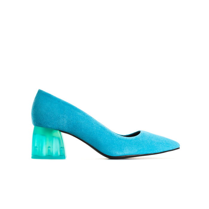 Betheney Turquoise Suede Shoes