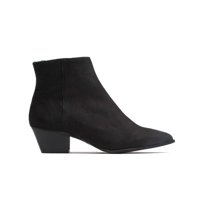 Boots, Bleecker Black Suede - Lintervalle shoes for woman