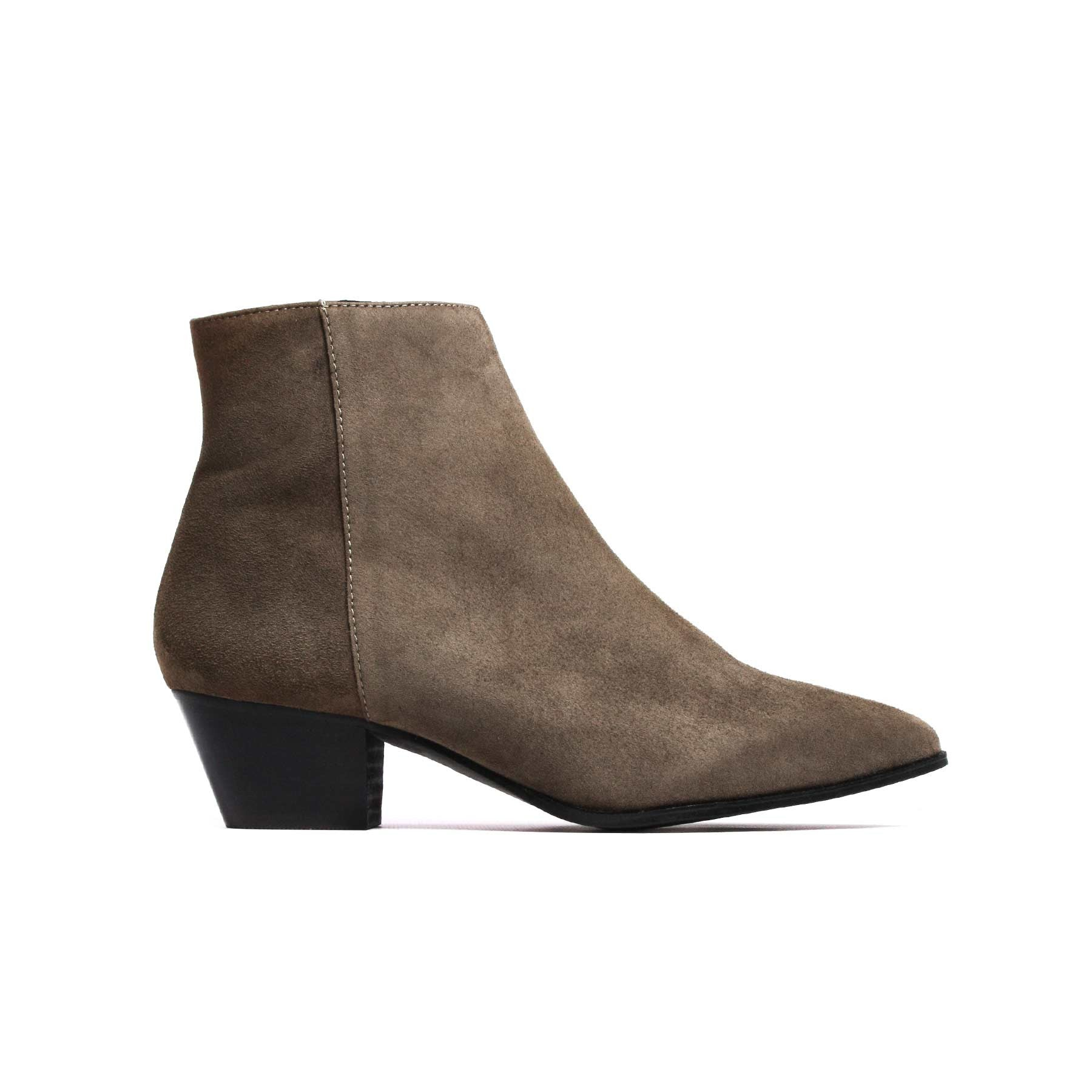 Boots, Bleecker Khaki Suede - Lintervalle shoes for woman