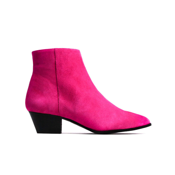 Boots, Bleecker Fuchsia Suede - Lintervalle shoes for woman