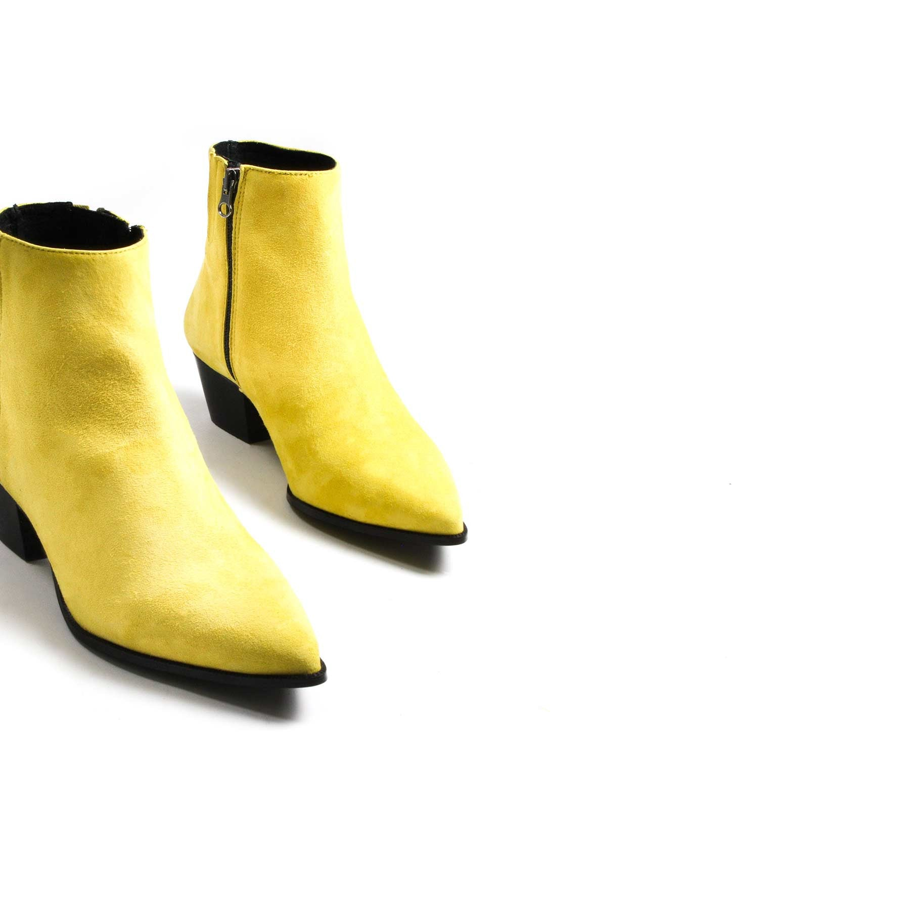 Boots, Bleecker Yellow Suede - Lintervalle shoes for woman
