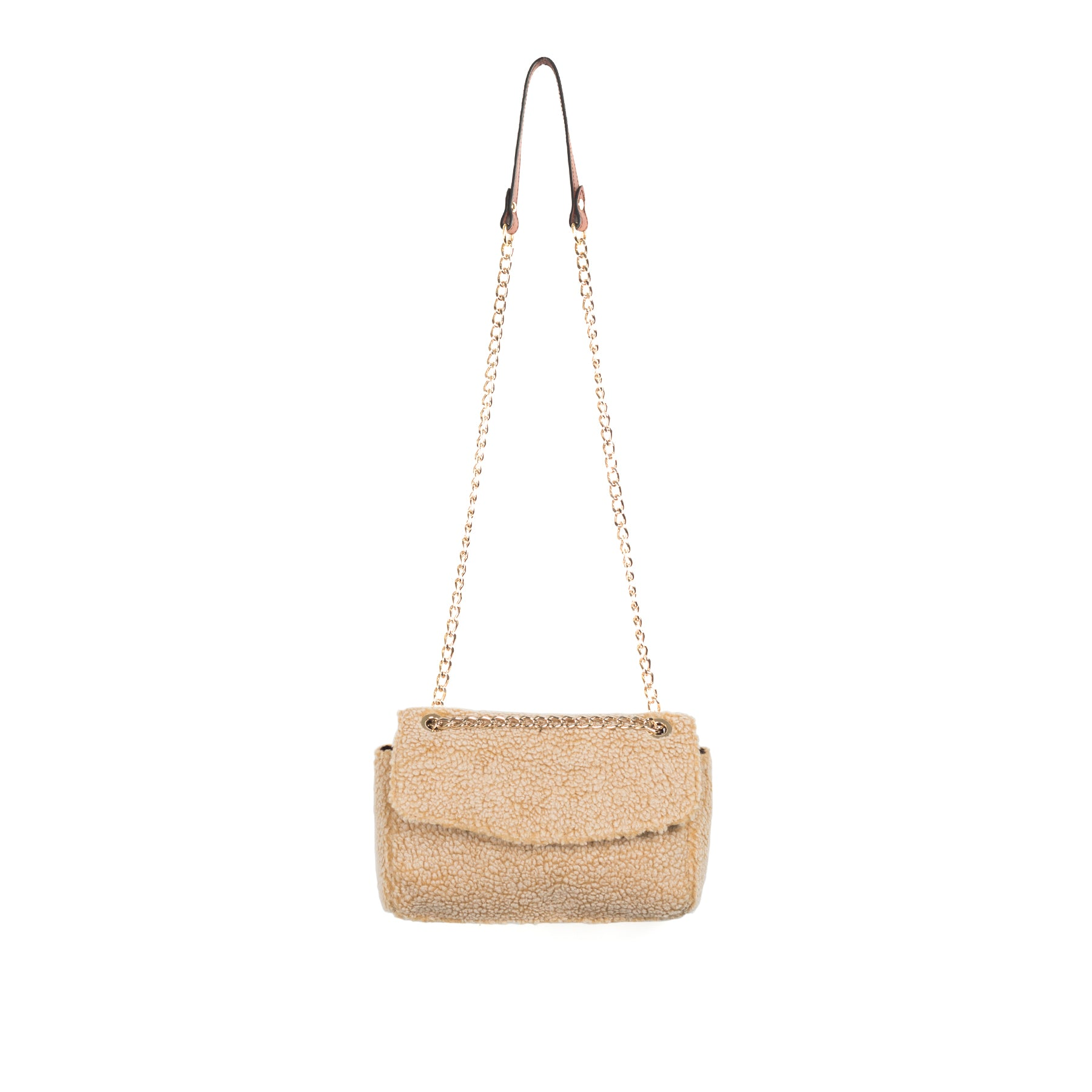 Brigitte Tan Teddy Shoulder Bags