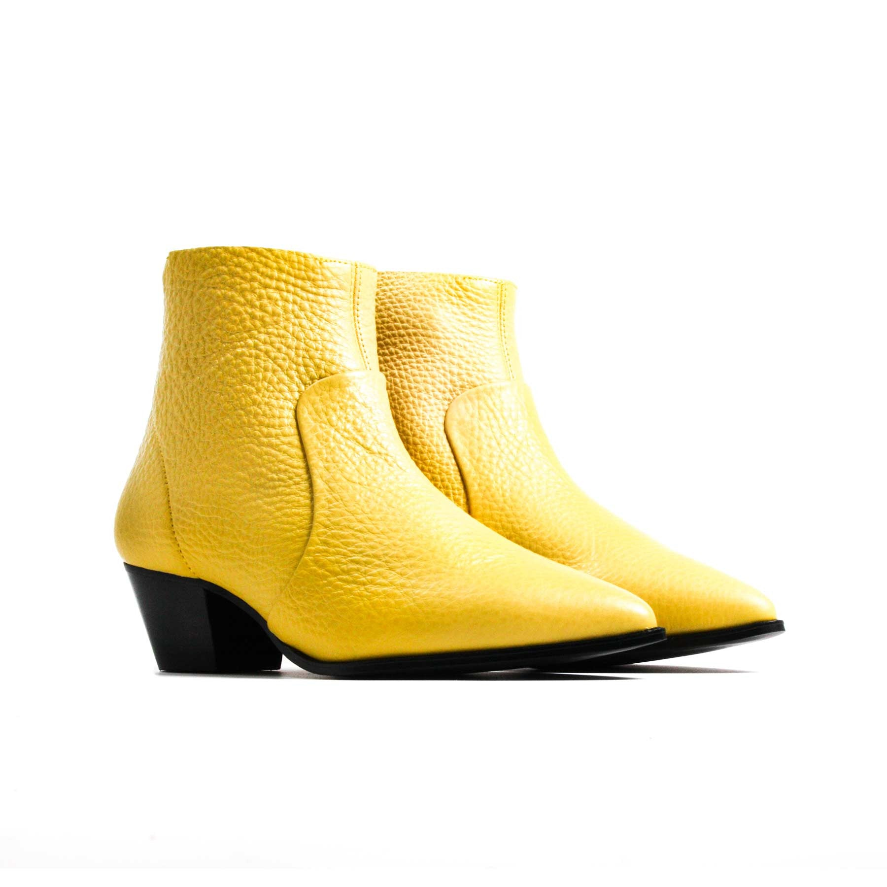 Boots, Brooks Yellow Leather - Lintervalle shoes for woman