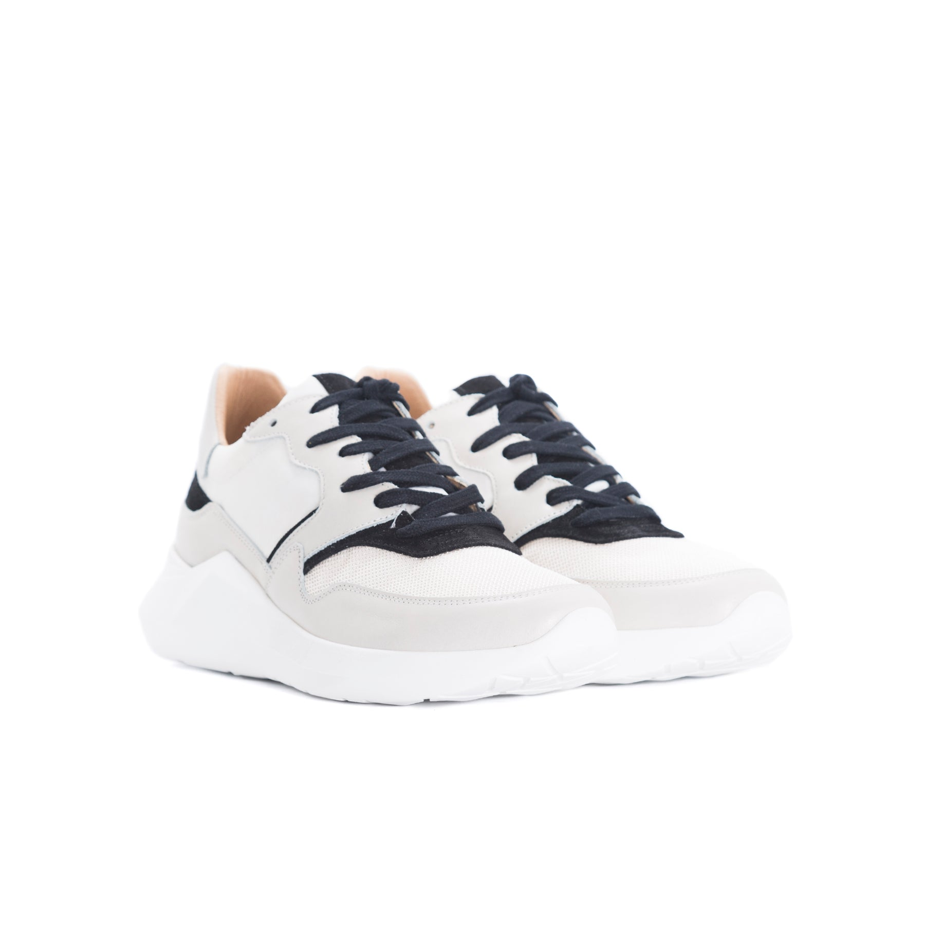 Cadence Off White Combo Sneakers