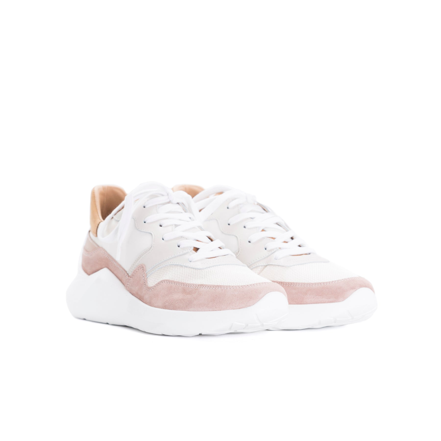 Cadence Pink Combo Sneakers