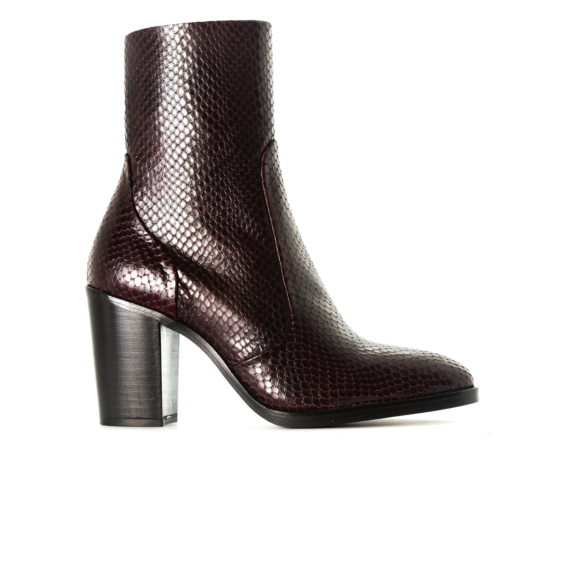 Cadiz Bordo Snake Booties