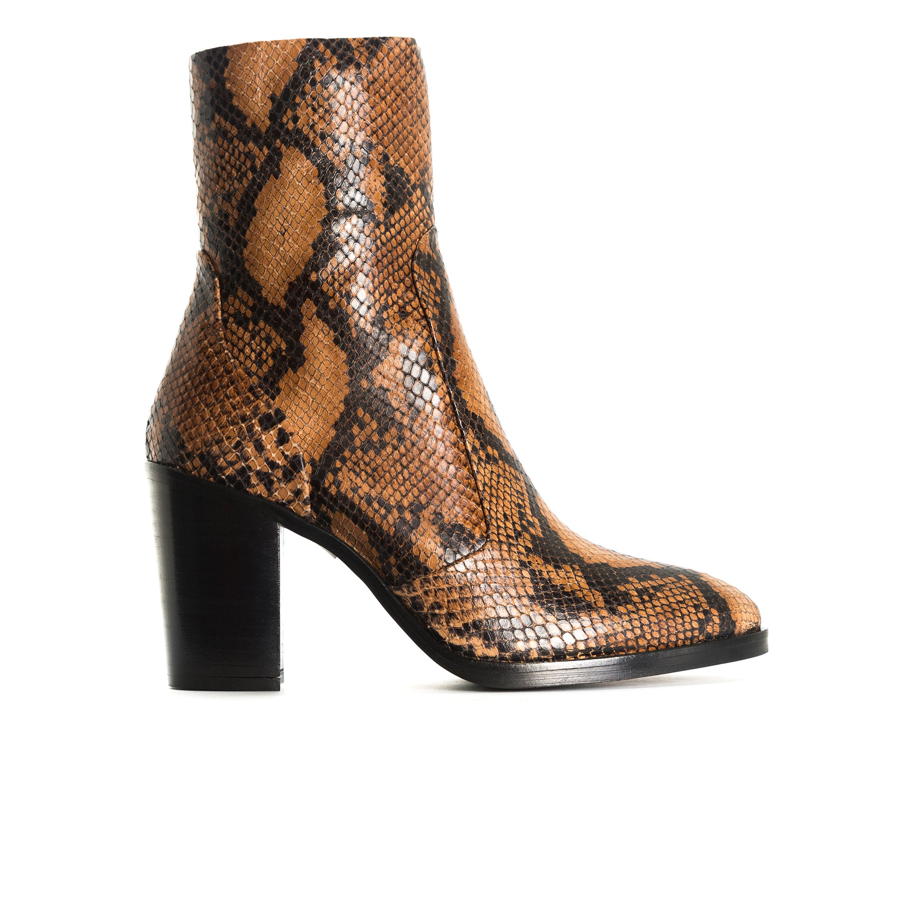Cadiz Tan Snake Booties