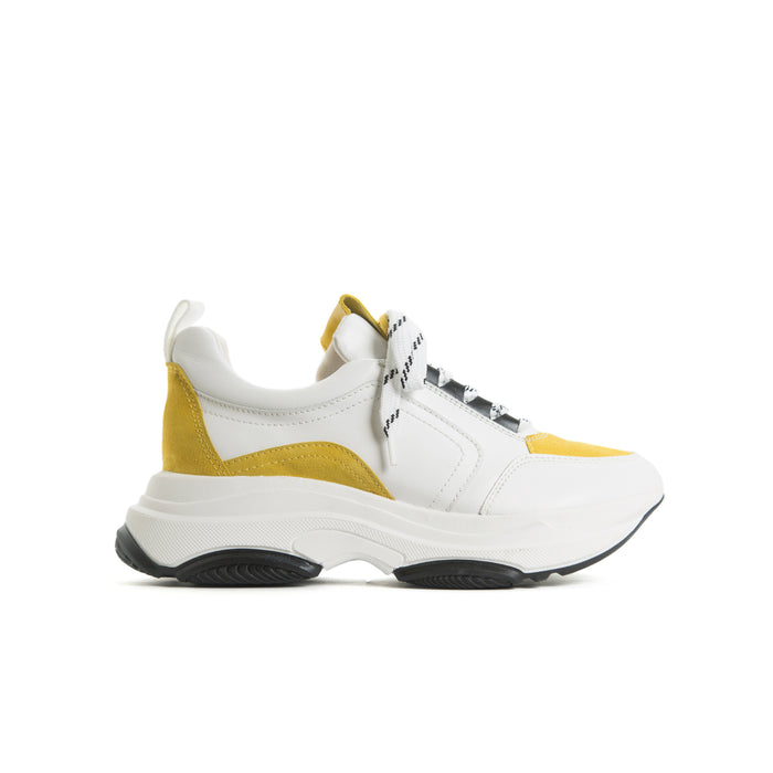 Cadman White Leather/Yellow Suede