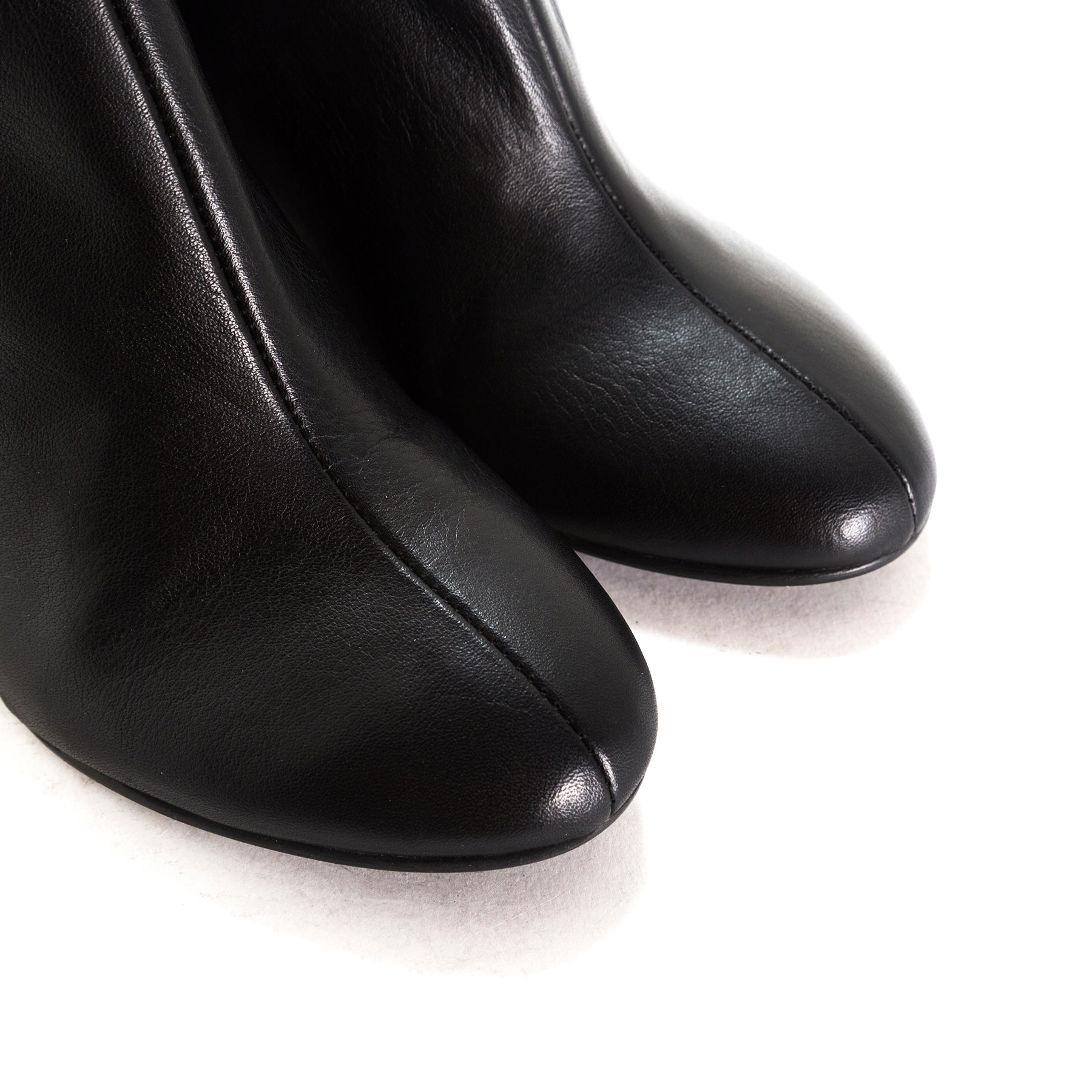 Cannes Black Leather Booties