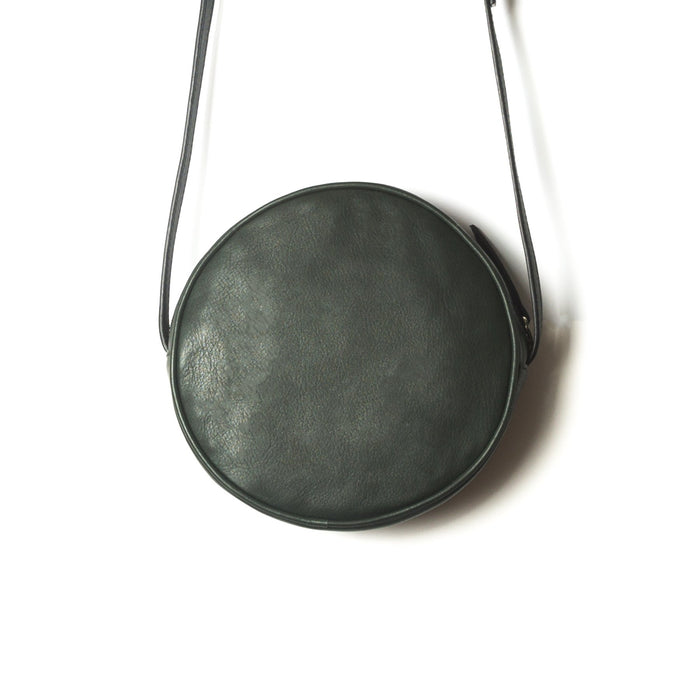 Circle Green Leather Shoulder Bags