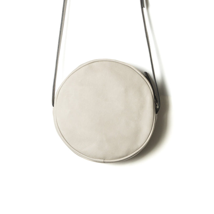 Circle Grey Leather Shoulder Bags