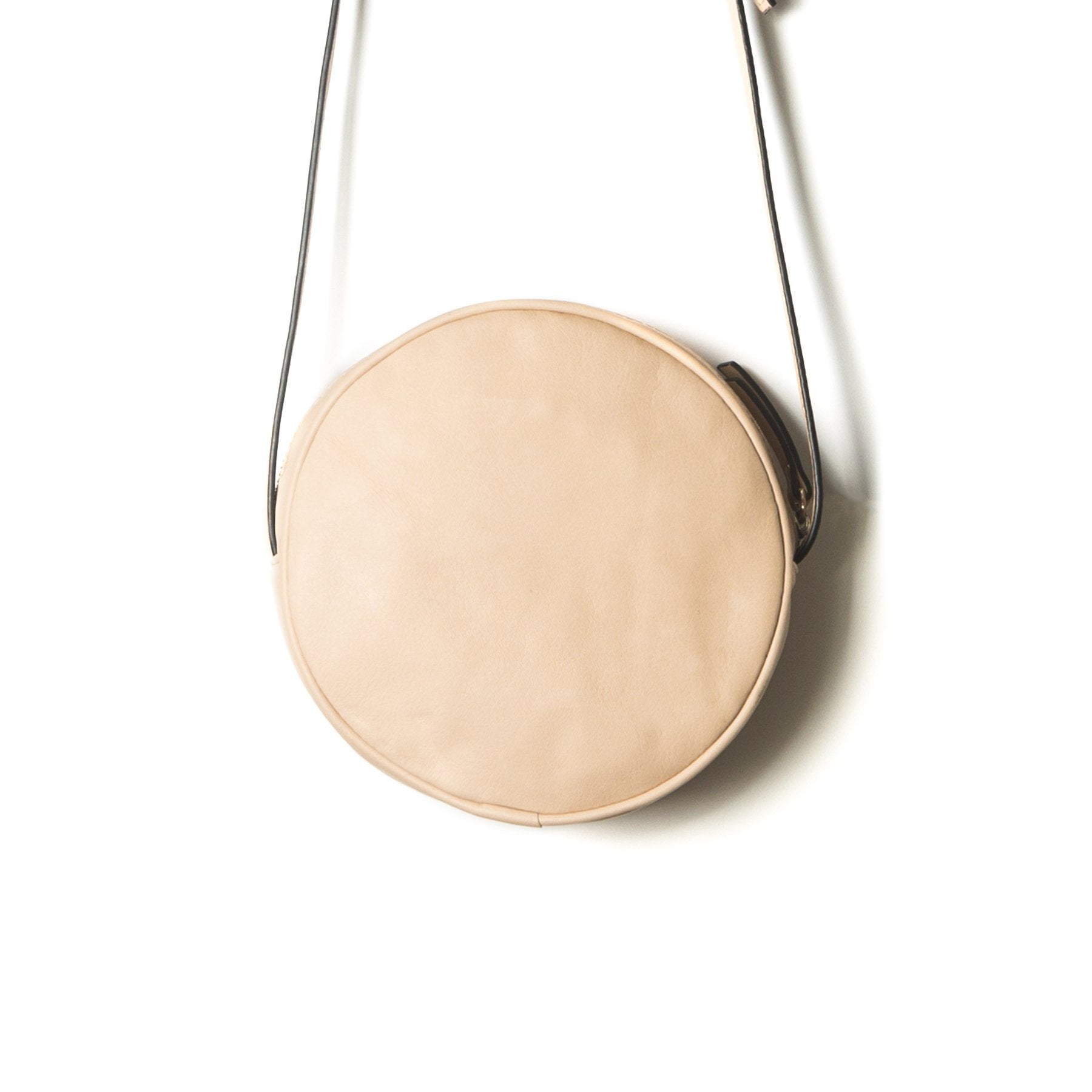 Circle Nude Leather Shoulder Bags