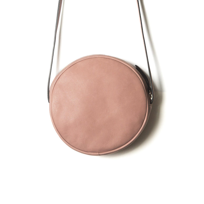 Circle Pink Leather Shoulder Bags