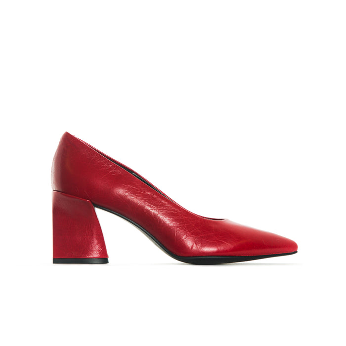 Clancy Red Leather
