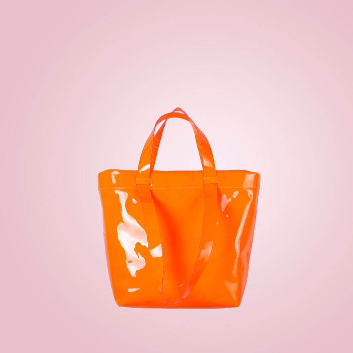 Claudine Neon Orange Patent