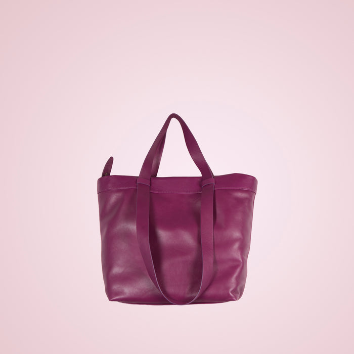 Claudine Purple Leather