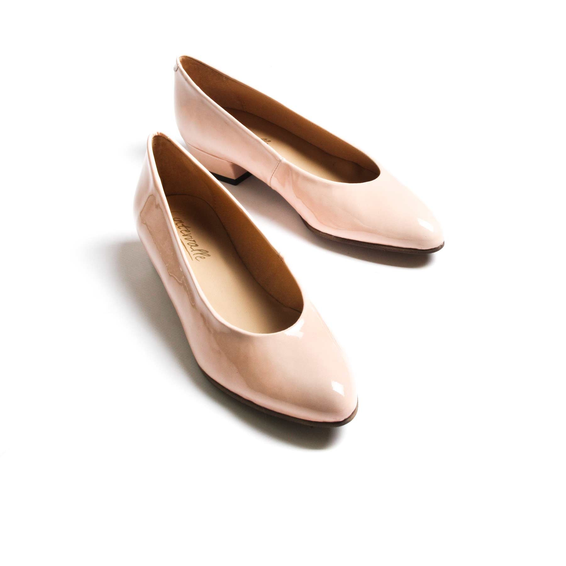 Pumps, Clau Nude Patent Leather - Lintervalle shoes for woman