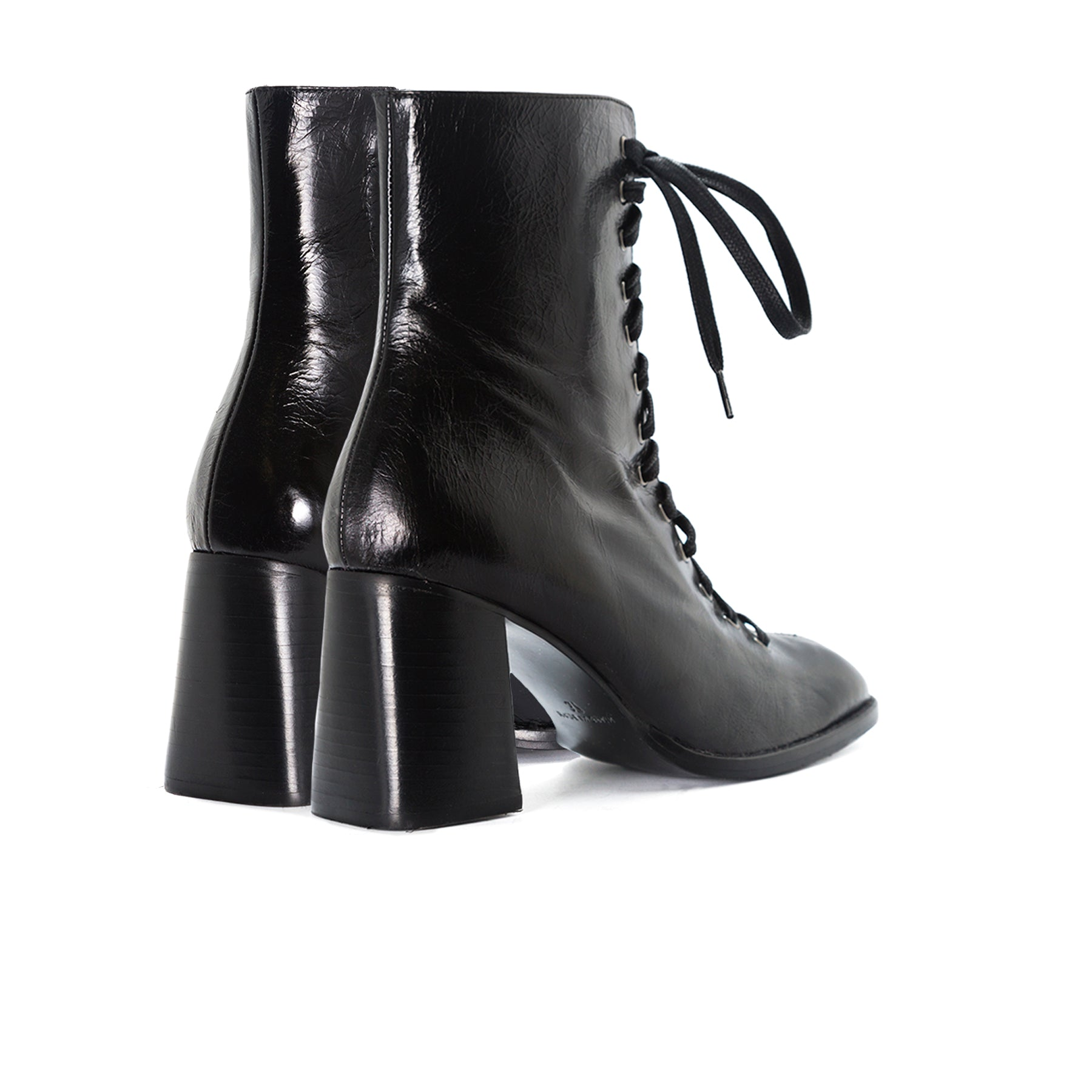 Clayton Black Leather Booties