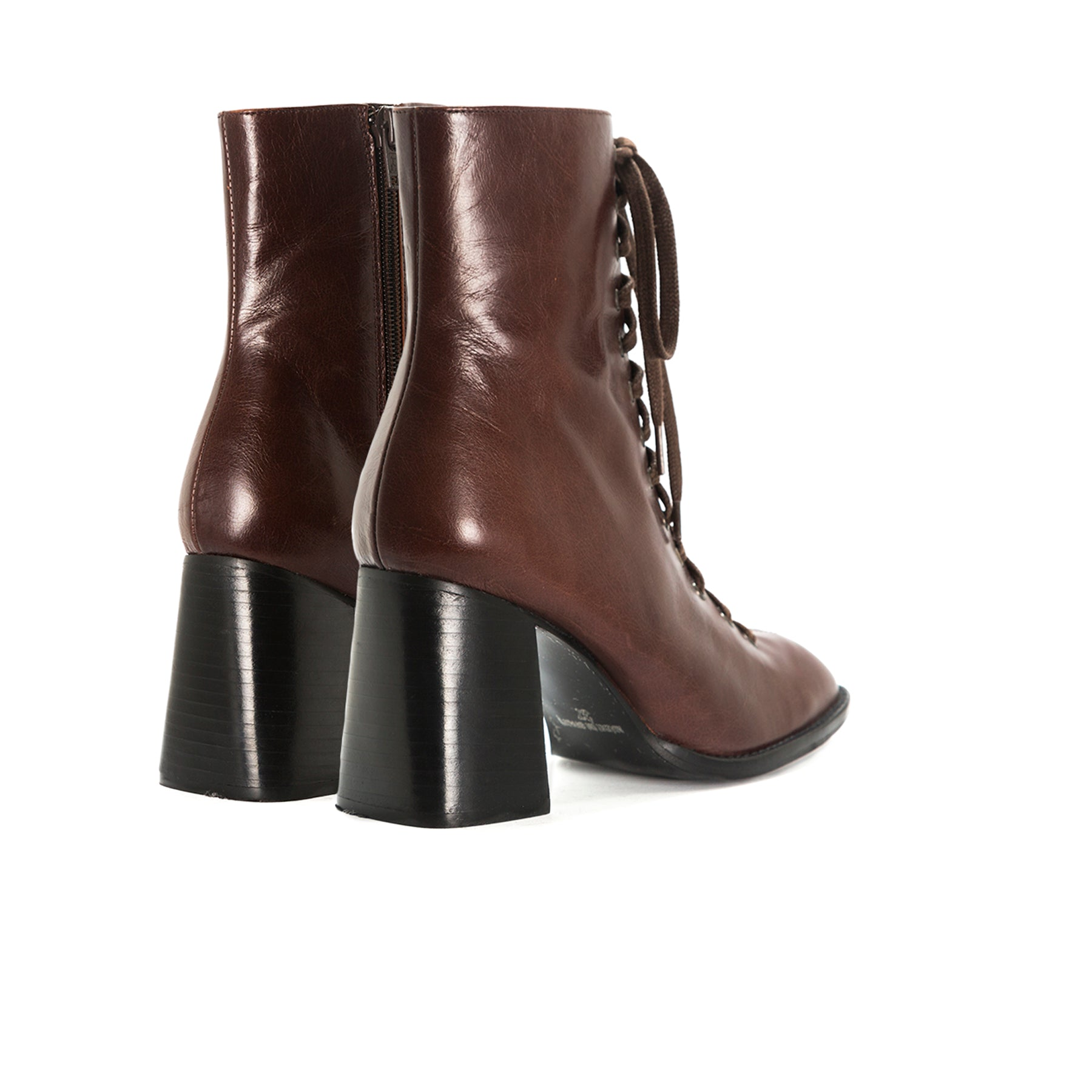 Clayton Brown Leather Booties