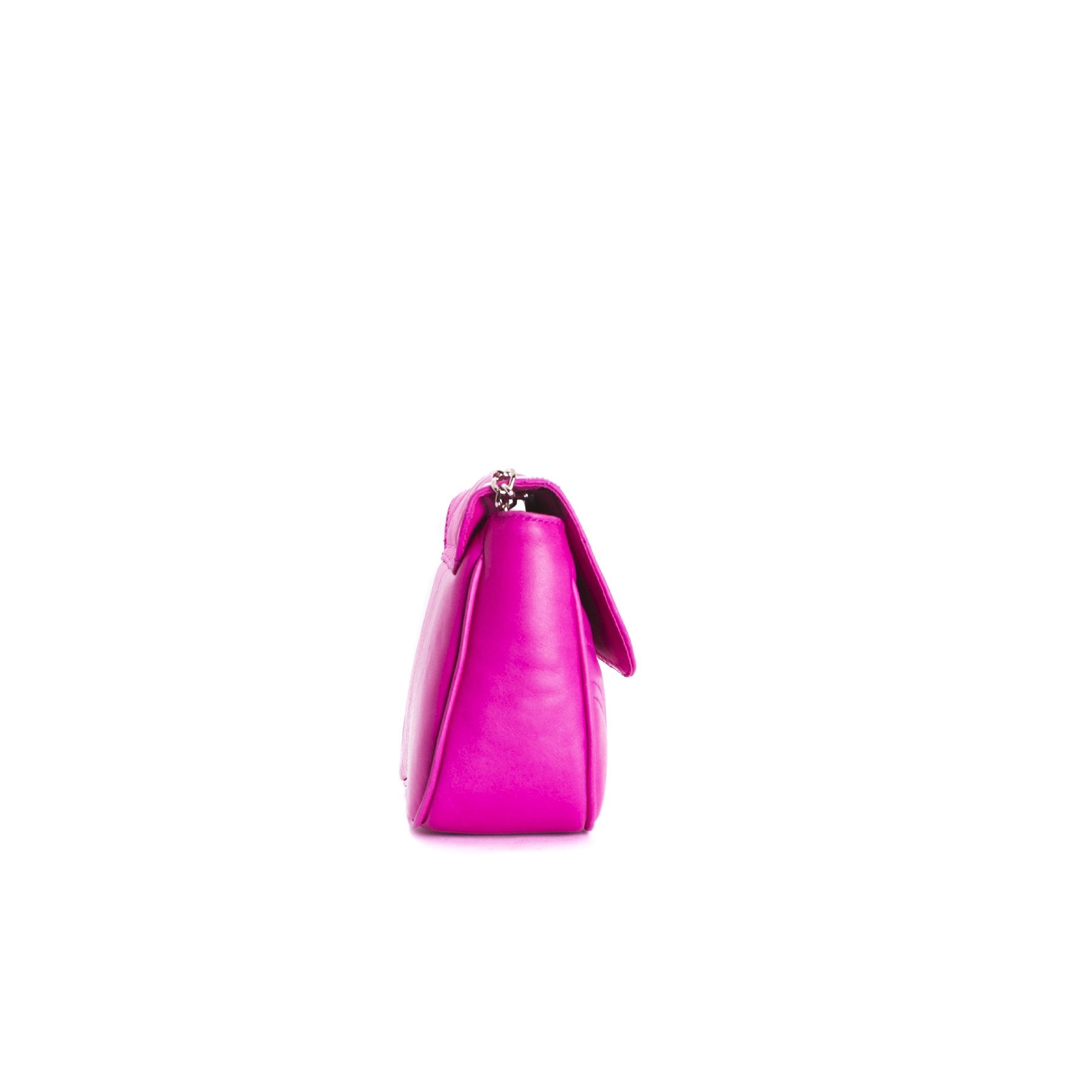 Coralie Fuchsia Leather Shoulder Bags