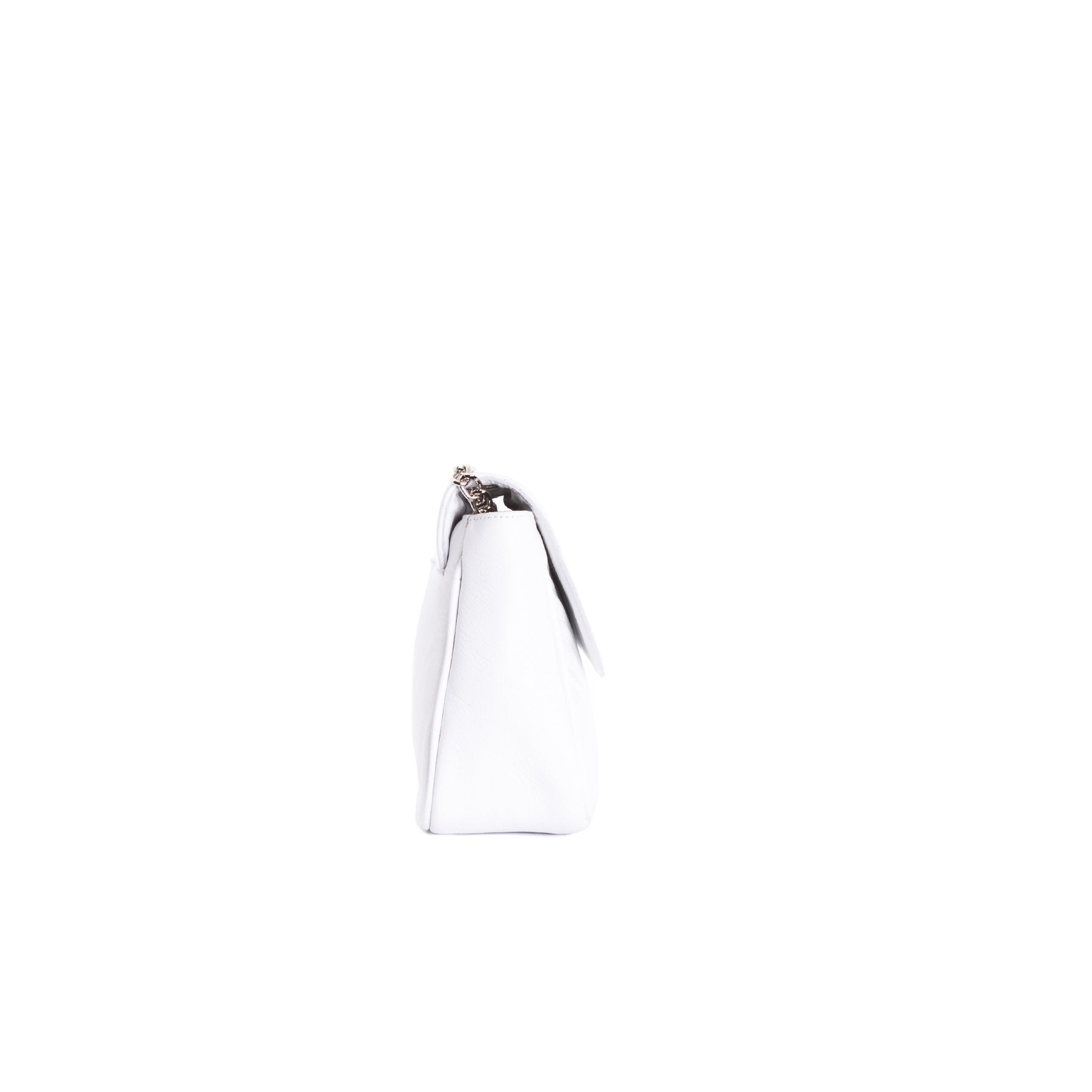 Coralie White Leather Shoulder Bags