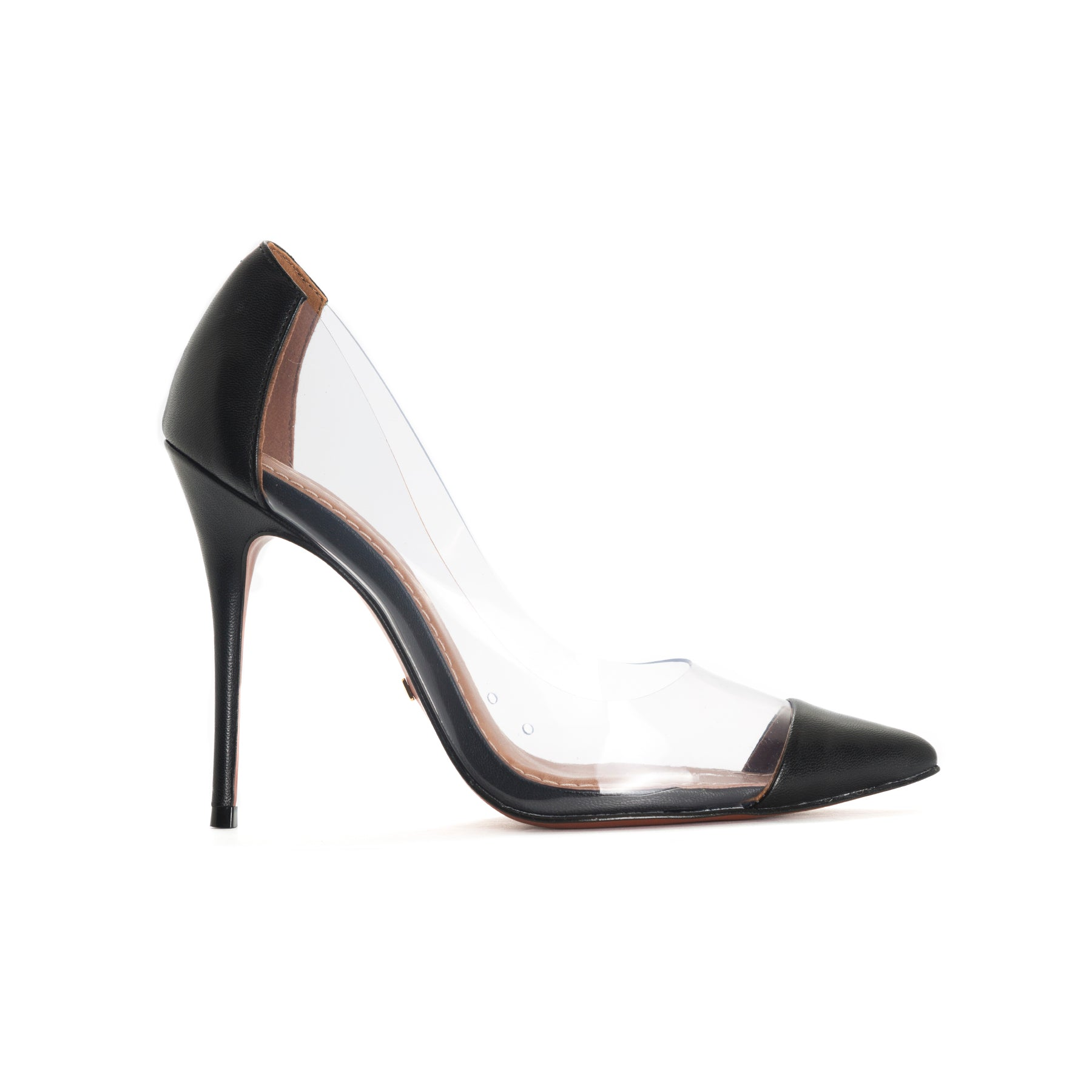 Corazon Black Leather Pumps