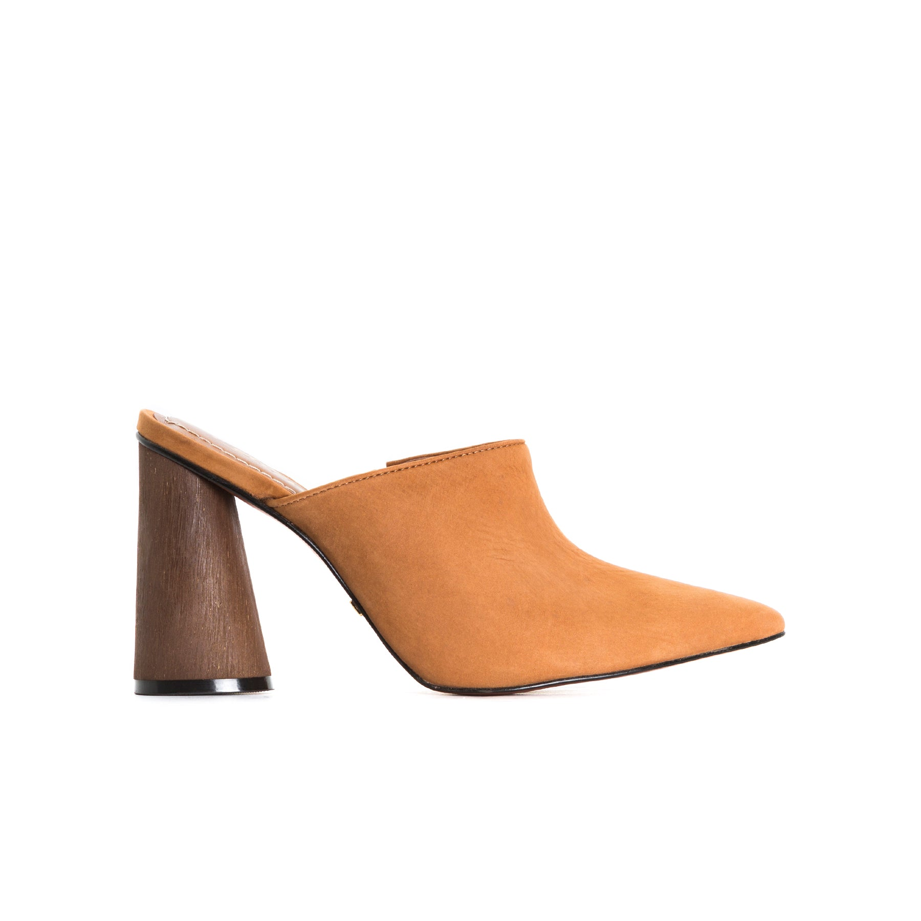 Cougar Tan Leather Mules
