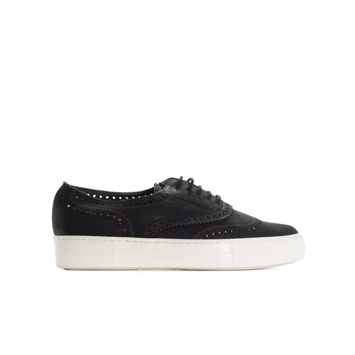 Cupela Black Leather Shoes