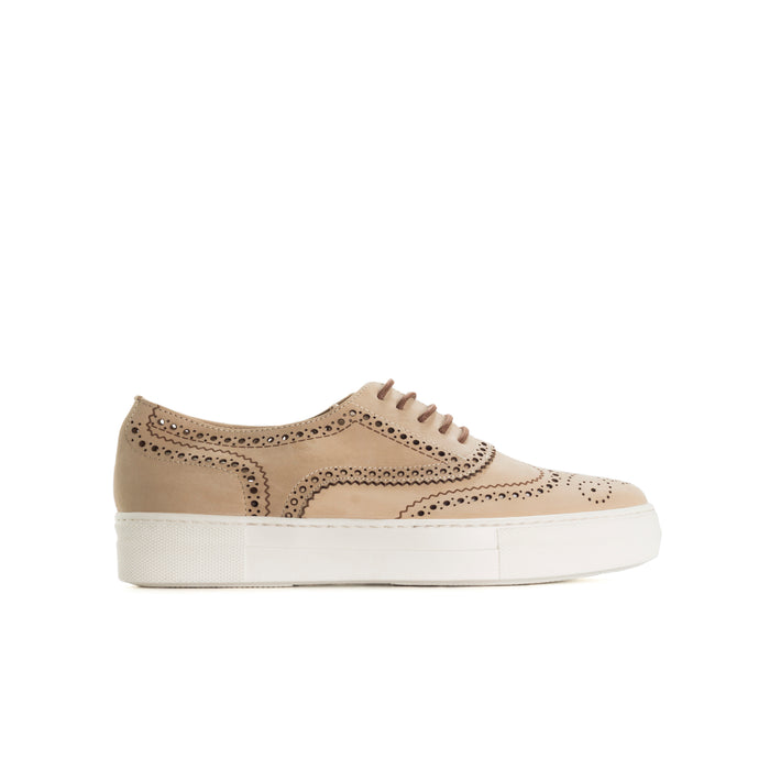Cupela Taupe Leather Shoes