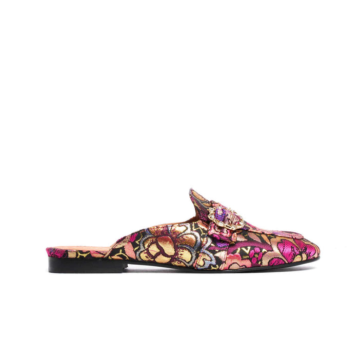 Shoes, Curu Fuchsia Brocade - Lintervalle shoes for woman