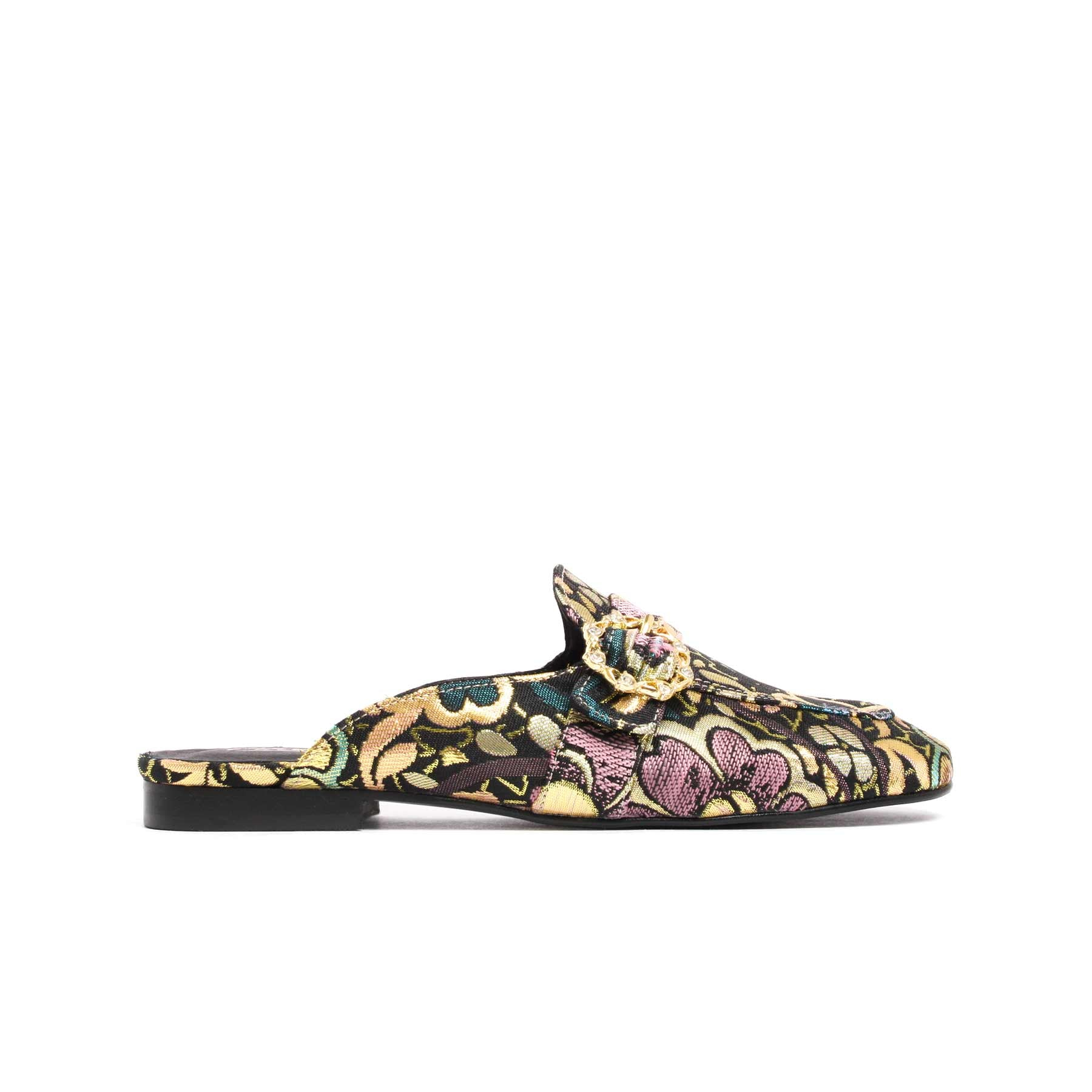 Shoes, Curu Green Brocade - Lintervalle shoes for woman