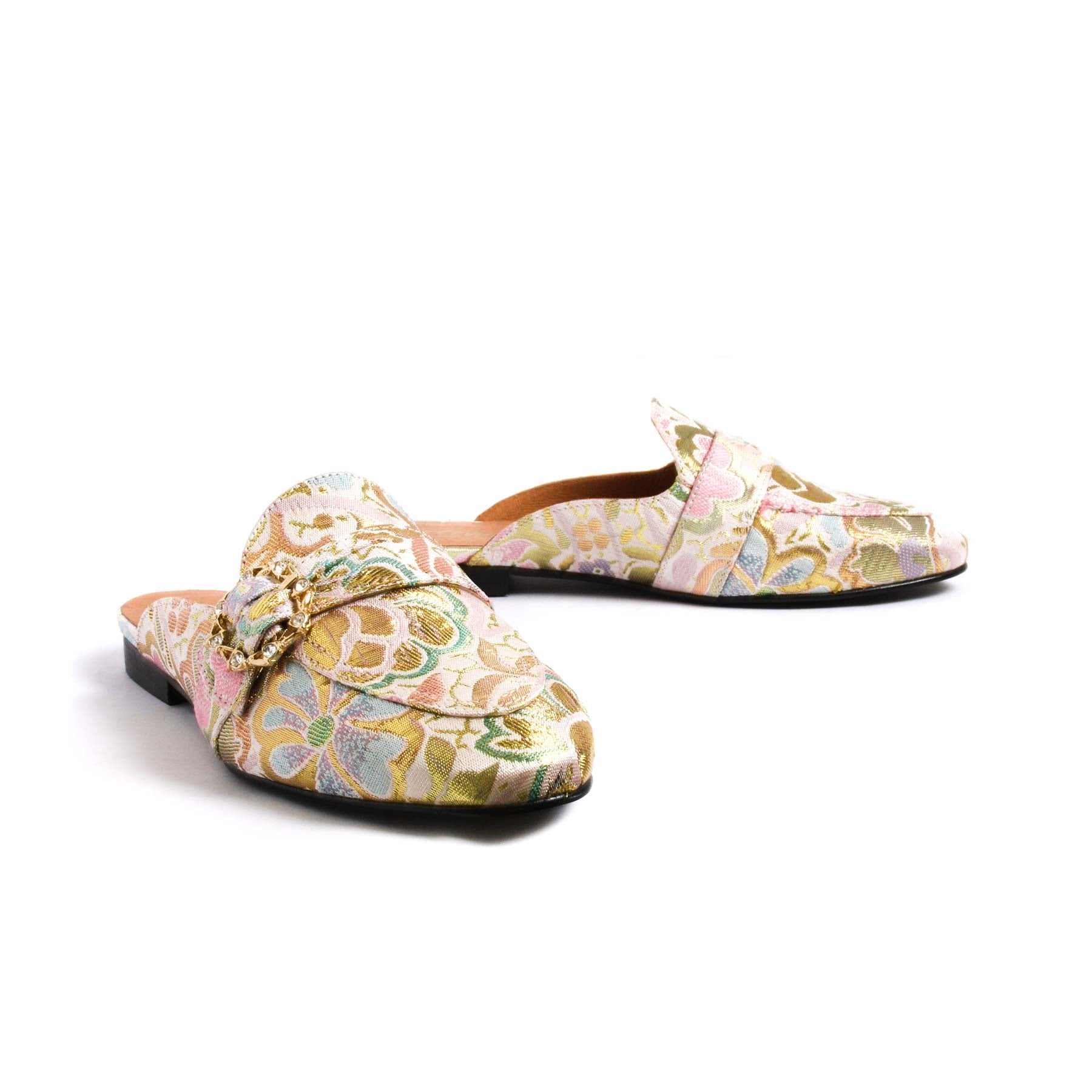 Shoes, Curu Pink Brocade - Lintervalle shoes for woman