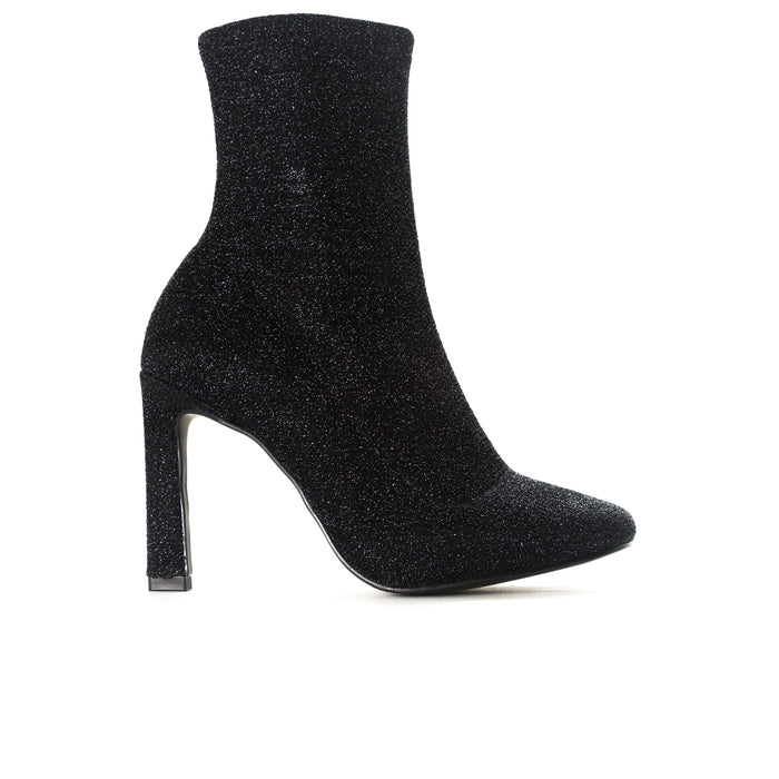 Dafni Black Stretch Booties