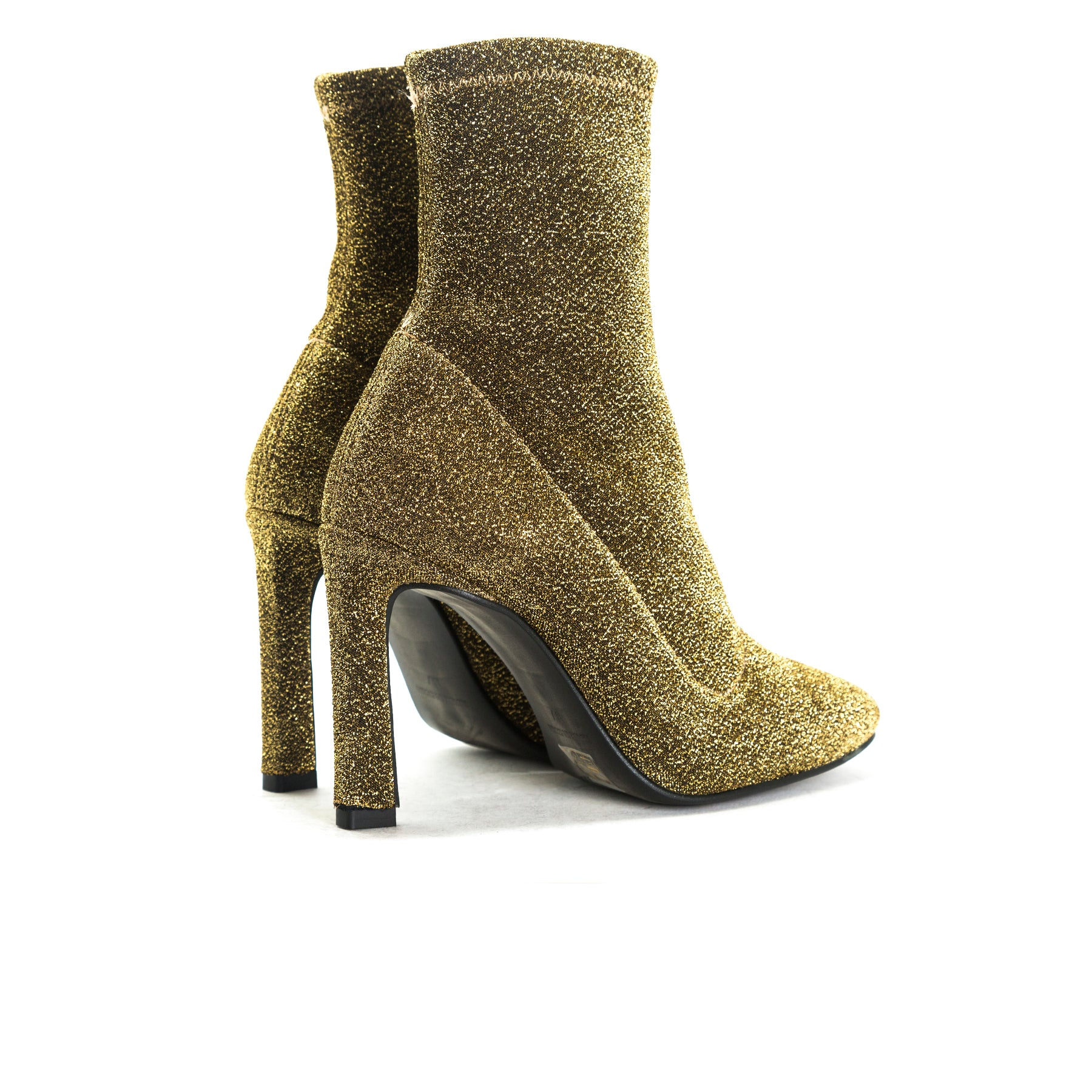 Dafni Gold Stretch Booties