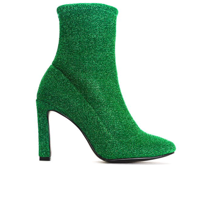 Dafni Green Stretch Booties
