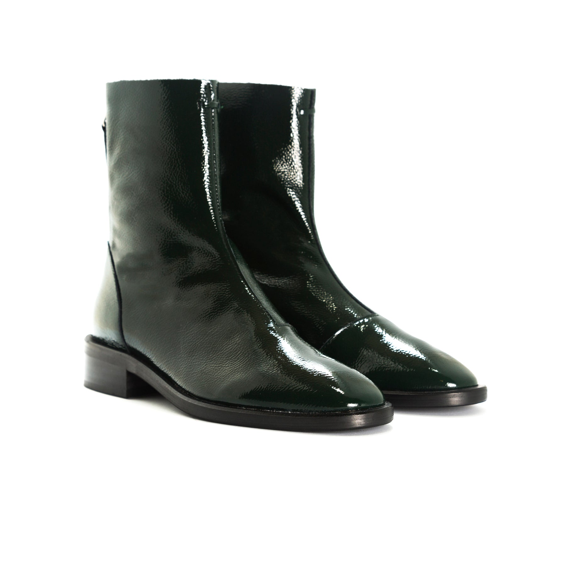 Dalton Green Naplack Booties