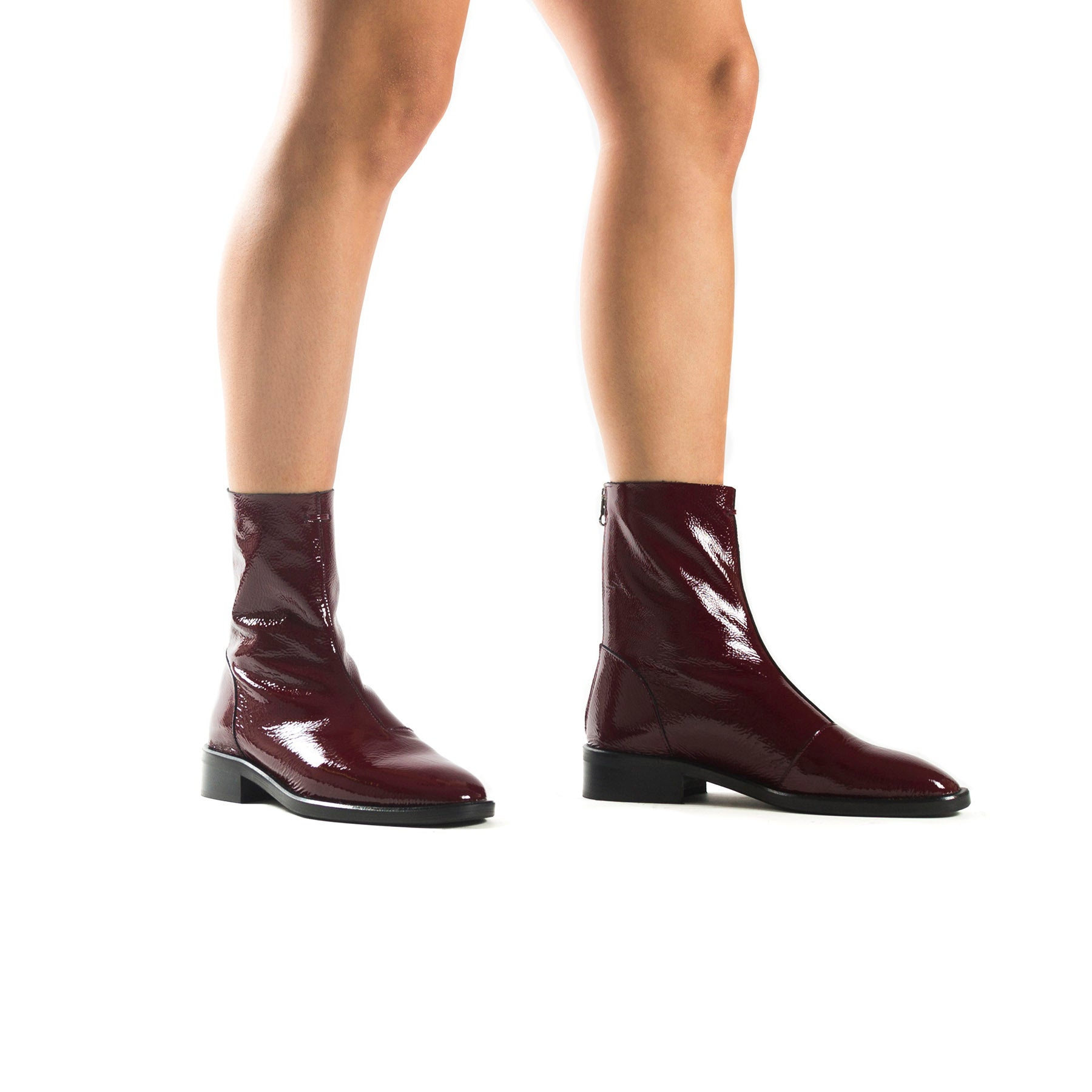 Dalton Red Naplack Booties