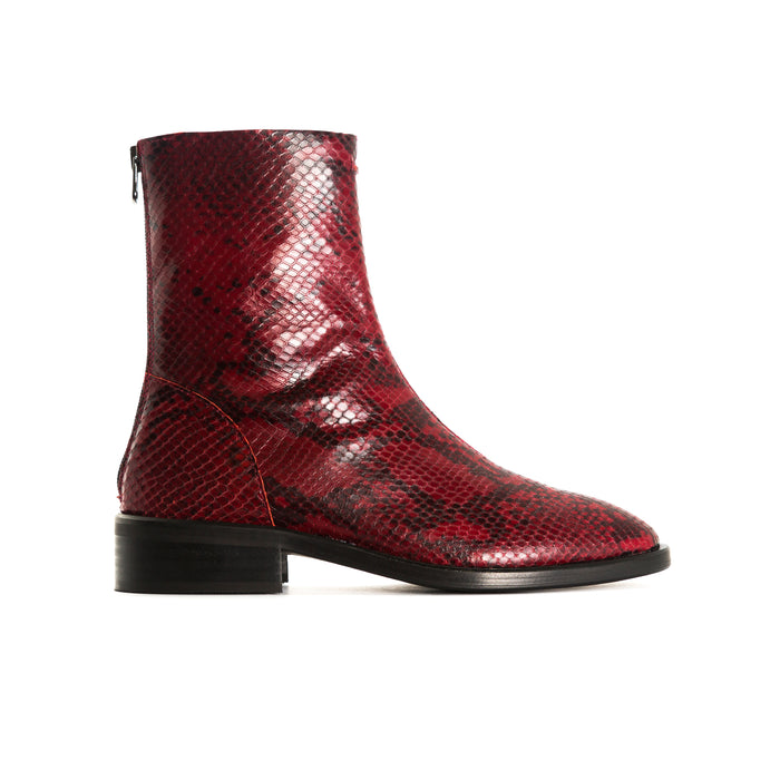 Dalton Red Snake Booties