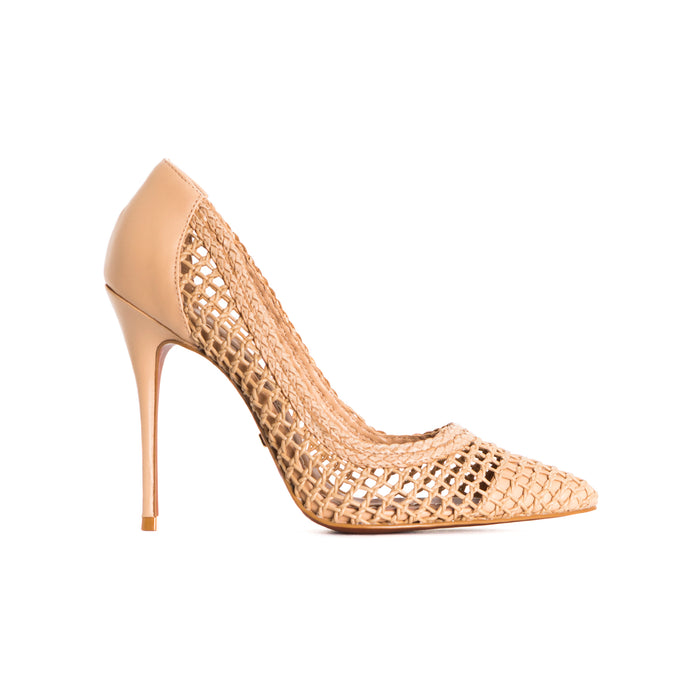 Dama Cream Leather Pumps