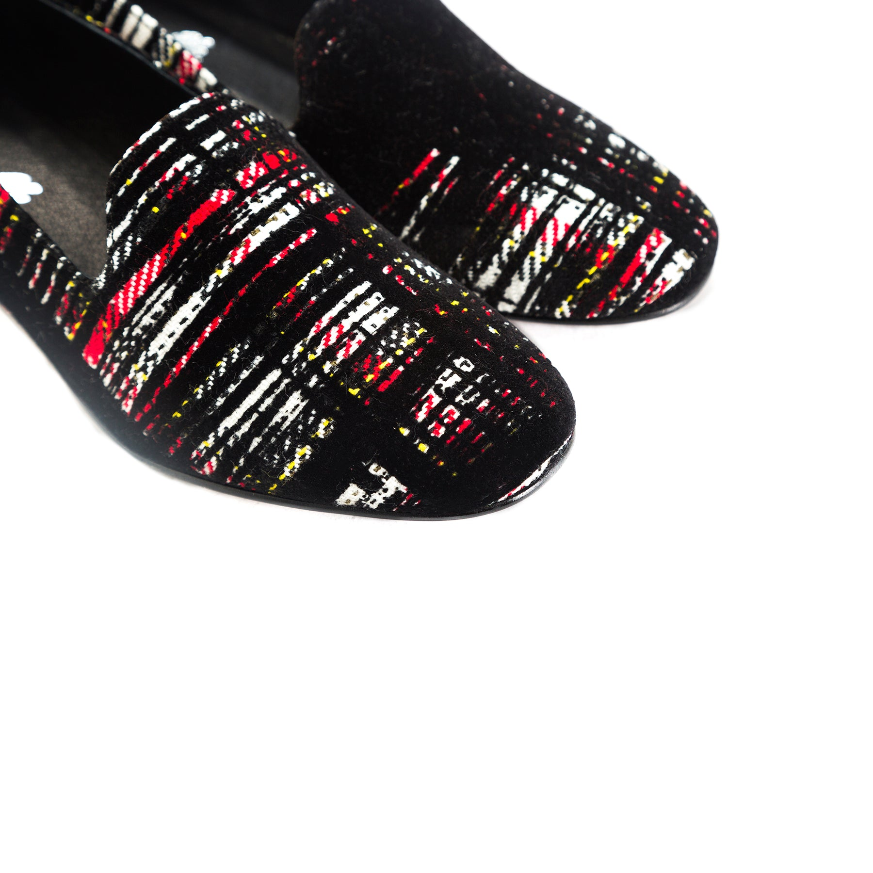 Daria Red/Black Fabric Shoes
