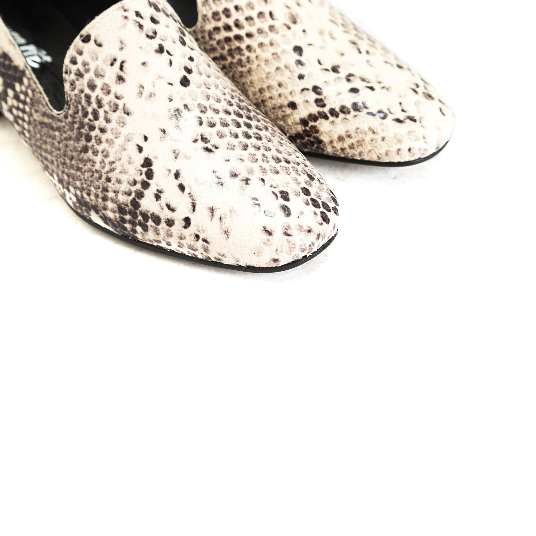 Daria White Snake Shoes