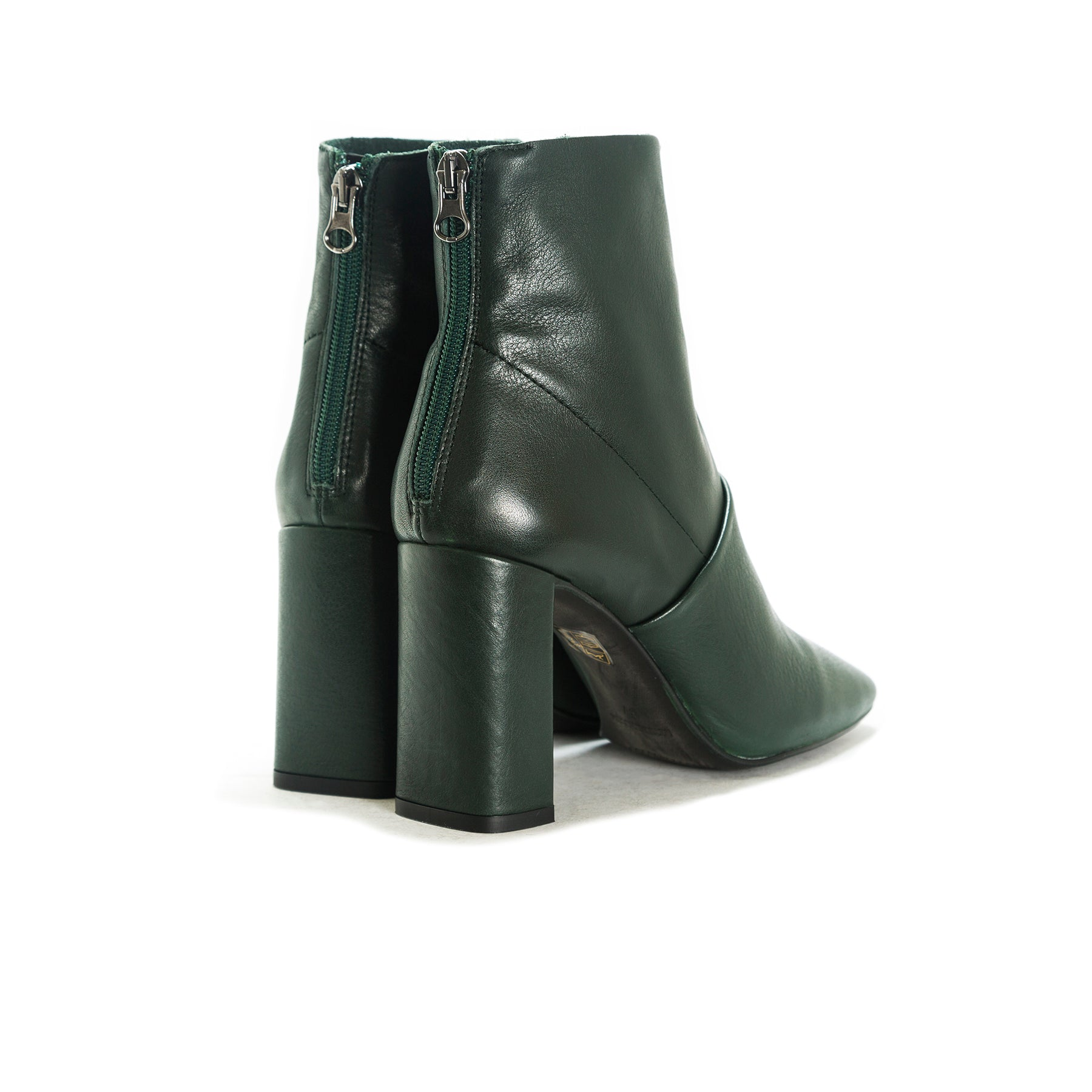 Devika Green Leather Boots